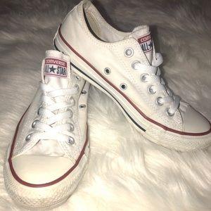 White Converse Size 7 Women's